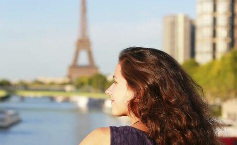 étudiante en séjour linguistique en france